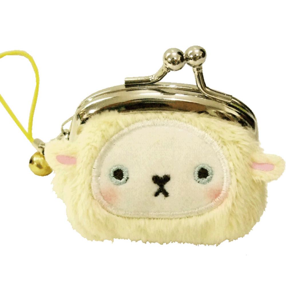 動物樂園迷你珠扣零錢包 。小綿羊 UNIQUE