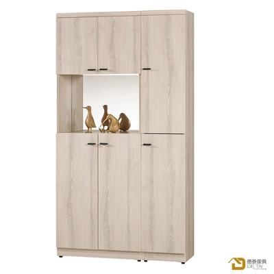 D&T 德泰傢俱 Tor明亮生活3尺玄關組合鞋櫃 寬90.5X深32X高183.5(公分)