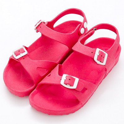 River&Moon防水鞋-台灣製輕量造型防水涼拖鞋-桃紅