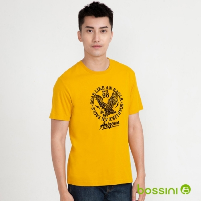 bossini男裝-印花短袖T恤06螢光黃