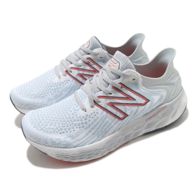New Balance 慢跑鞋 1080v11 Wide 寬楦 運動 男鞋 紐巴倫 輕量 透氣 舒適 路跑 避震 白 紅 M1080W112E
