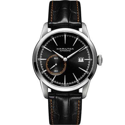 Hamilton RailRoad 系列 偏心小秒盤機械腕錶(H40515731)42mm