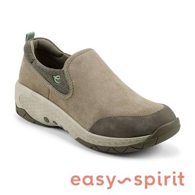 easy spirit-JOLLIE 麂皮套穿厚底休閒步鞋-絨棕