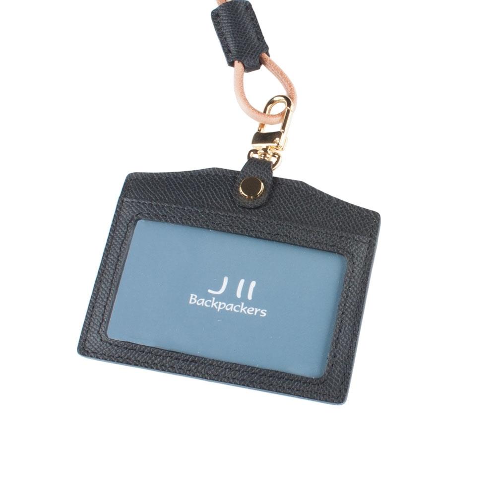 J II 粗礦牛皮橫式雙卡證件套-2102-1