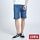 EDWIN JERSEYS 迦績 PK EJ3涼感低腰寬鬆 牛仔短褲-男-拔洗藍 product thumbnail 1