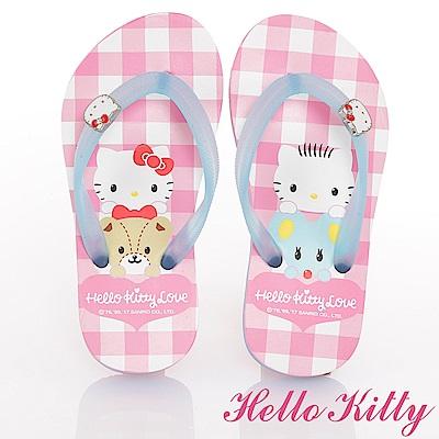 (雙11)HelloKitty 可愛輕盈夾腳拖鞋童鞋-粉