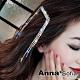 AnnaSofia 雙流蘇鍊鑽 純手工小髮夾邊夾(銀系) product thumbnail 1