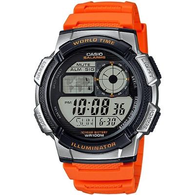 CASIO 雷霆世界戰士運動電子錶-橘(AE-1000W-4B)/43mm
