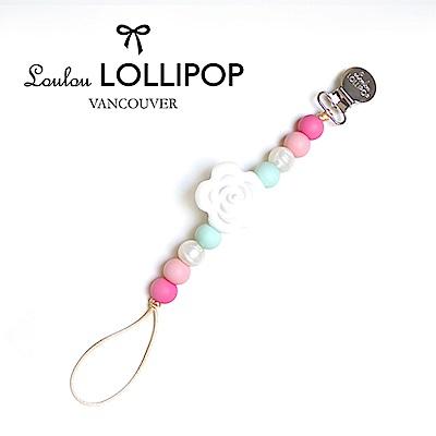 加拿大Loulou lollipop嬰幼兒串珠奶嘴夾/奶嘴鍊夾 山茶花系列-薔薇粉