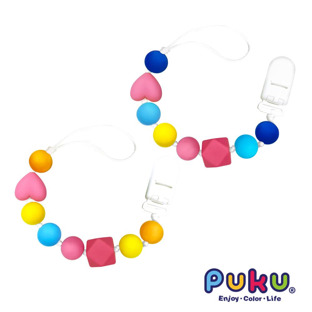 【PUKU】Baby GaGa糖果安撫防掉鍊(顏色隨機出貨)