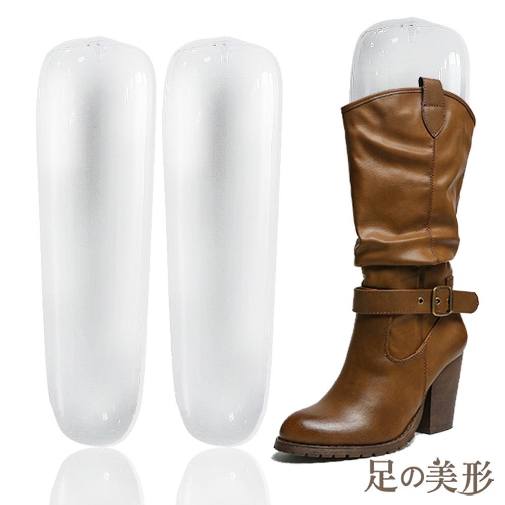 足的美形  透明一字型馬靴氣球鞋撐 (5雙)