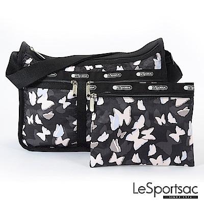LeSportsac - Standard雙口袋A4大書包-附化妝包 (蝴蝶剪影)