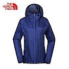 The North Face北面女款藍色防水透氣風衣