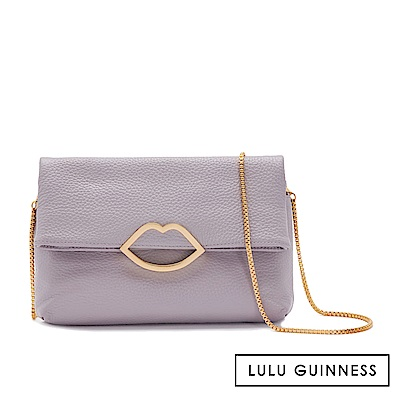 LULU GUINNESS ISSY 手拿/側背包 (紫)