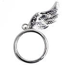 DIOR 優美造型天使之翼戒指(銀)