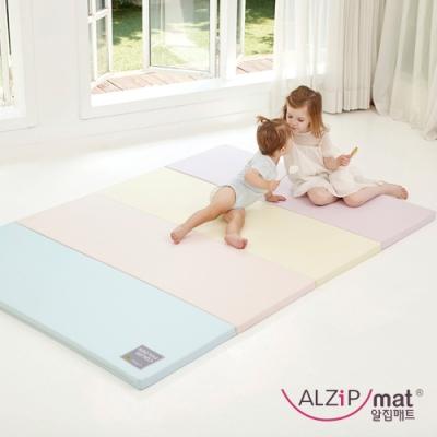 【ALZiPmat】韓國手工製 時尚經典四折折疊墊 - 經典馬卡龍