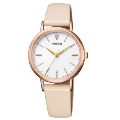 CITIZEN wicca少女系列廣告款太陽能腕錶/KP5-166-10