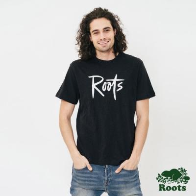 男裝Roots-原創短袖T恤-黑