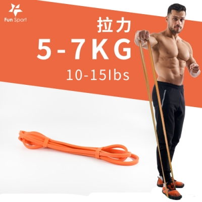 Fun Sport 健力環-乳膠環狀彈力阻力帶(橘)(阻力圈/彈力帶/拉力繩)