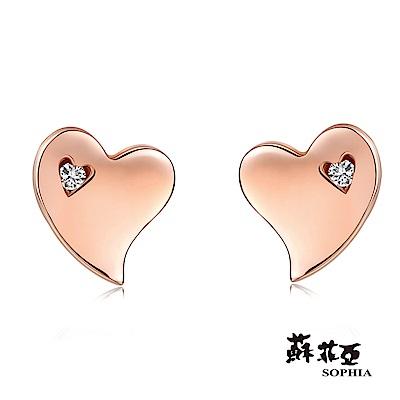 蘇菲亞SOPHIA - 費歐娜玫瑰金鑽石耳環
