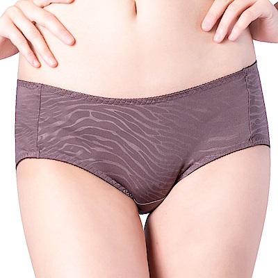 思薇爾 豹紋系列M-XL低腰平口內褲(卵石褐)