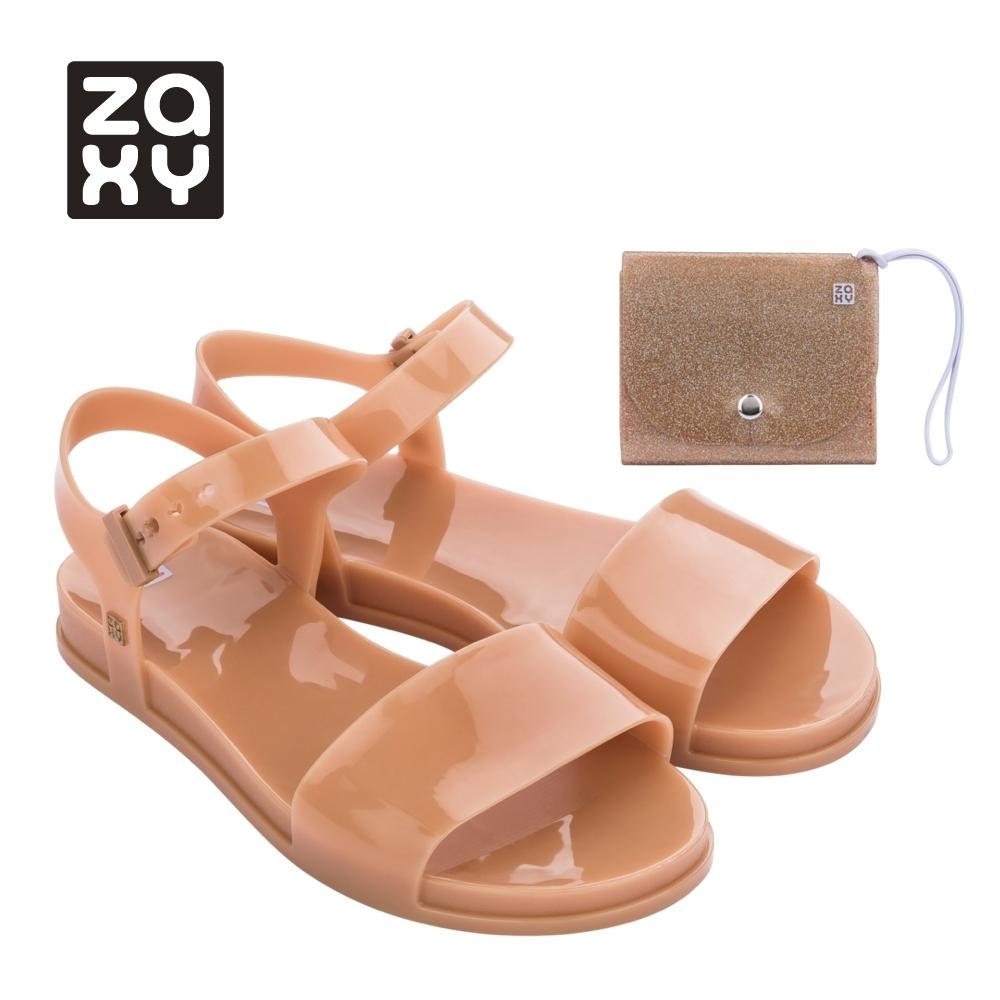 Zaxy TRENDY + WALLET FEM系列涼鞋-橘咖