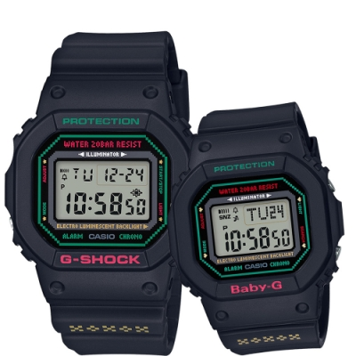 CASIO 卡西歐 G-SHOCK x BABY-G 天使與惡魔聖誕限量對錶(LOV-19B-1)