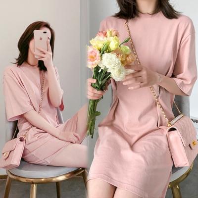 【韓國K.W.】(預購)簡約美感休閒洋裝-4色