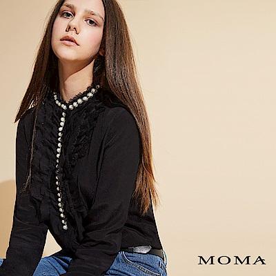 MOMA 珍珠荷葉上衣