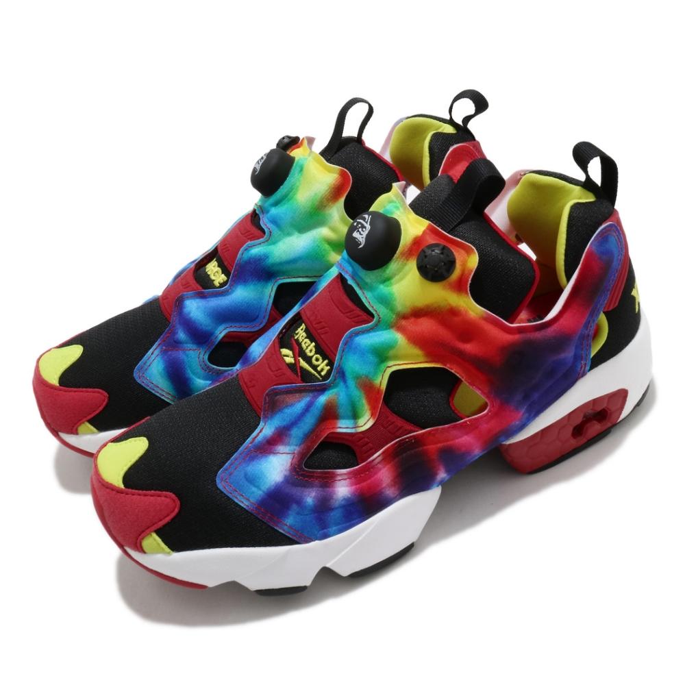 Reebok 休閒鞋 Instapump Fury OG 男女鞋 XLARGE 聯名 情侶 充氣科技 紮染鞋面 彩 FY3069