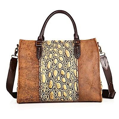 米蘭精品 手提包真皮牛皮側背包-時尚大方大款女包包母親節禮物73lp47