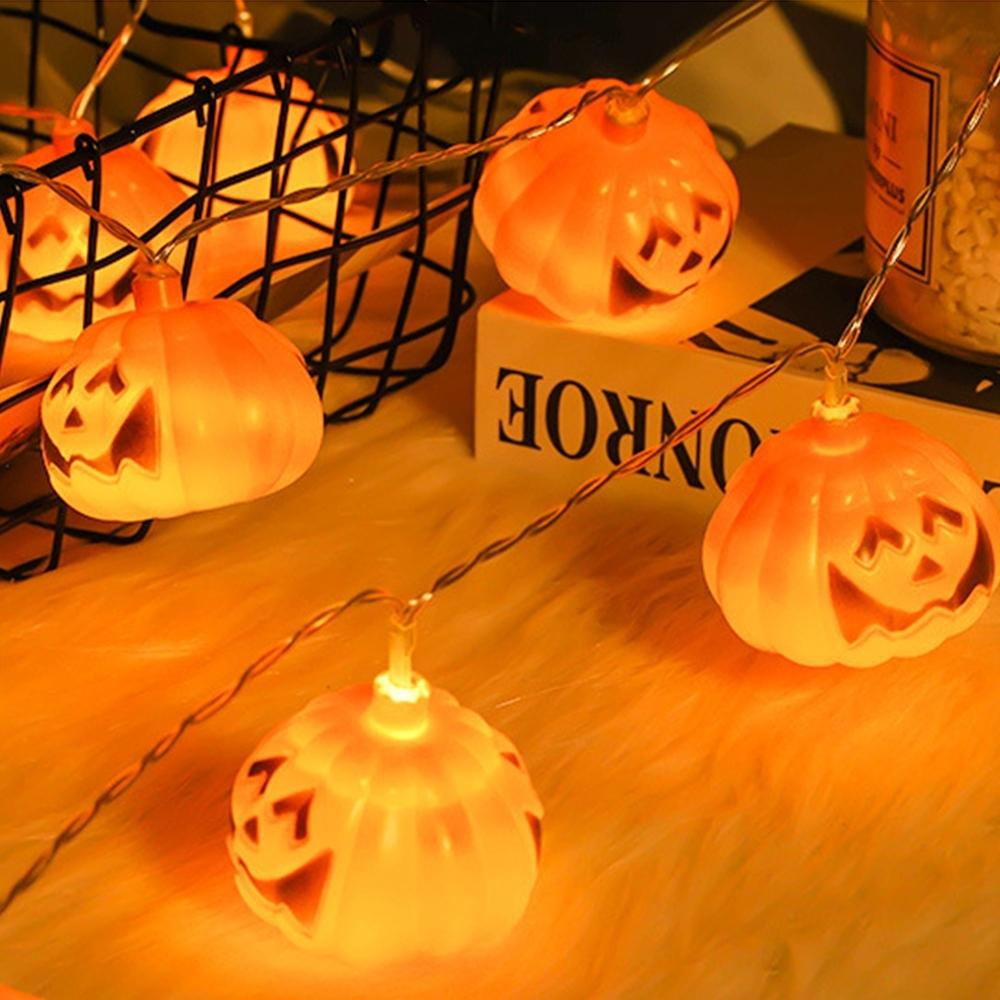 半島良品 1.5米萬聖節布置 萬聖節裝飾 LED燈串-南瓜燈串