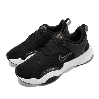 Nike 訓練鞋 Superrep GO 2 運動 女鞋 健身房 避震 支撐 包覆 穩定 綜合訓練 黑 白 CZ0612-010