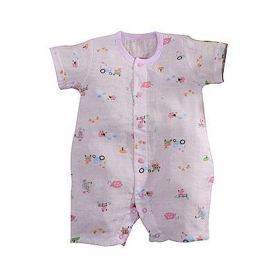 嬰兒純棉紗布短袖兔裝 b0184 魔法Baby