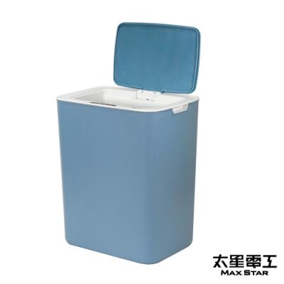 太星電工  自動掀蓋垃圾桶(沉穩藍)  TC120B
