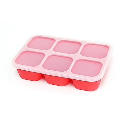 【MARCUS&MARCUS】動物樂園造型矽膠副食品分裝保存盒-獅子(紅)