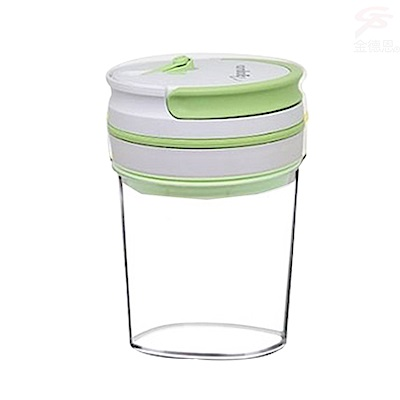 金德恩 高科技智能晶片提把式真空保鮮罐禮盒0.8L