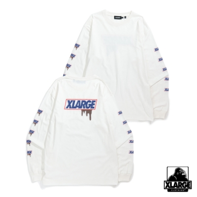 XLARGE L/S TEE STILL HUNGRY長袖T恤-白
