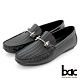 【bac】都會時尚 帥氣壓紋真皮帆船鞋-黑色 product thumbnail 1