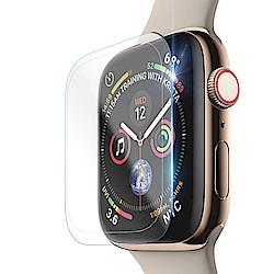 CITY Apple Watch Series 4 44mm 滿版全透明全膠曲面玻璃貼