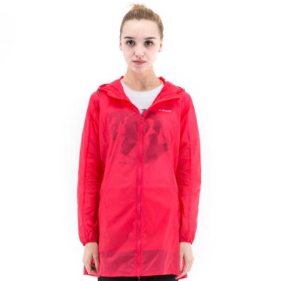 【St. Bonalt 聖伯納】女款單色超輕透長版防曬外套 (8031-玫紅) 抗UV 防曬 防風 防潑水 輕薄 透氣
