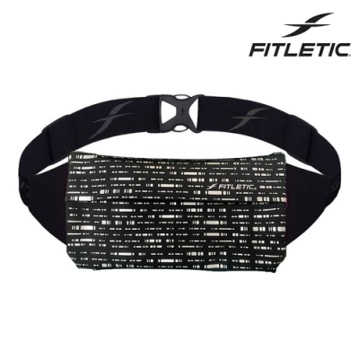 【Fitletic】Zipless運動腰包NZ01 / 黑格紋