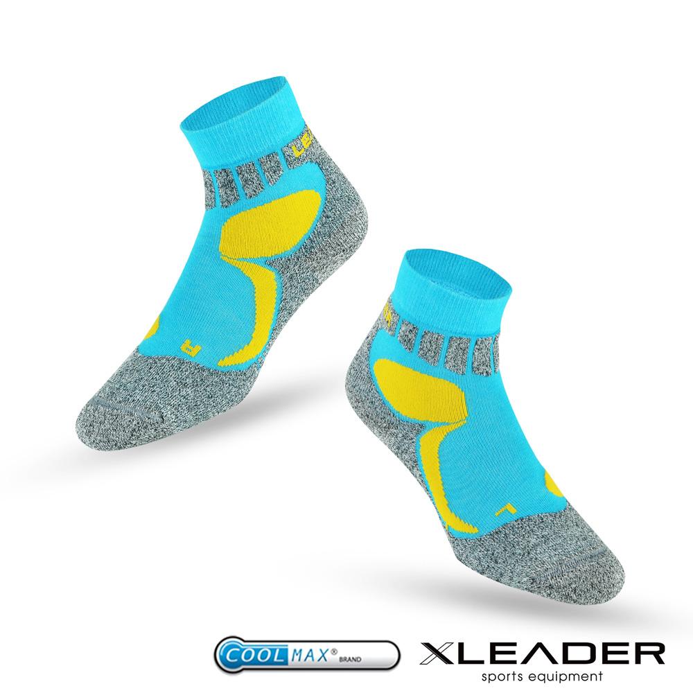 LEADER ST-07 Coolmax輕壓力 機能除臭運動襪 男款 藍色