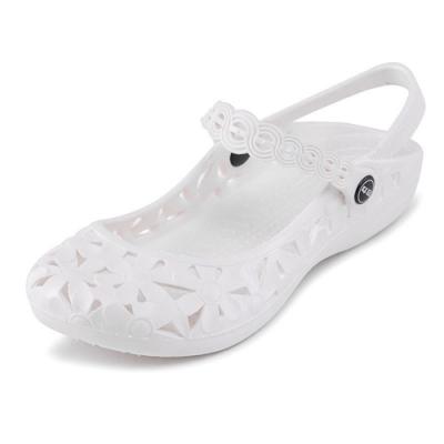 KEITH-WILL時尚鞋館 搶眼繽紛輕量獨家限定 2WAY防水娃娃鞋-白