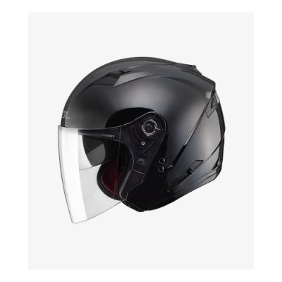 【SOL】SO-7 素色 素黑 3/4罩 OF-77(安全帽│半罩│LED燈│內藏墨鏡)
