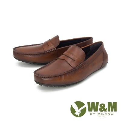 W&M(男) 經典皮飾內增高莫卡辛 樂福鞋 開車鞋 男鞋 -棕(另有黑)