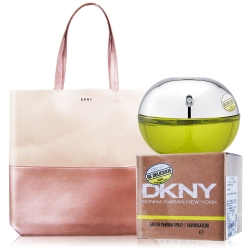 DKNY Be Delicious 青蘋果淡香精 100ml+紐約奇遇粉漾托特包