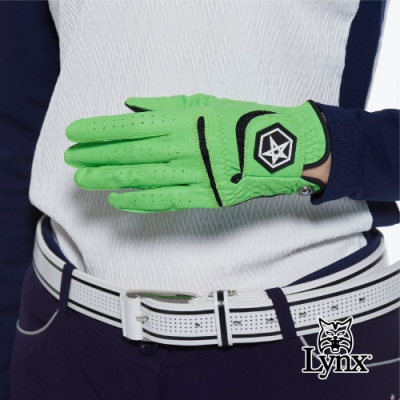 【Lynx Golf】Asher Chuck 多色系列男款防滑彈性高爾夫左手手套-綠色