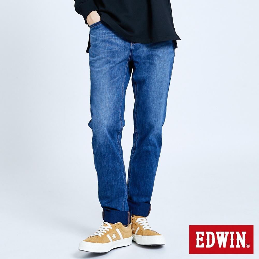 EDWIN JERSEYS 迦績 EJ2 棉感直筒牛仔褲-男-石洗藍