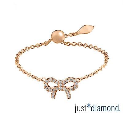 鎮金店 Just Diamond 鑽石玫瑰金 鑽戒-愛相繫(蝴蝶結)